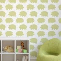 Hedgehogs Allover Stencil by Cutting Edge Stencils. http://www.cuttingedgestencils.com/hedgehogs-stencil-geometric-wall-pattern.html