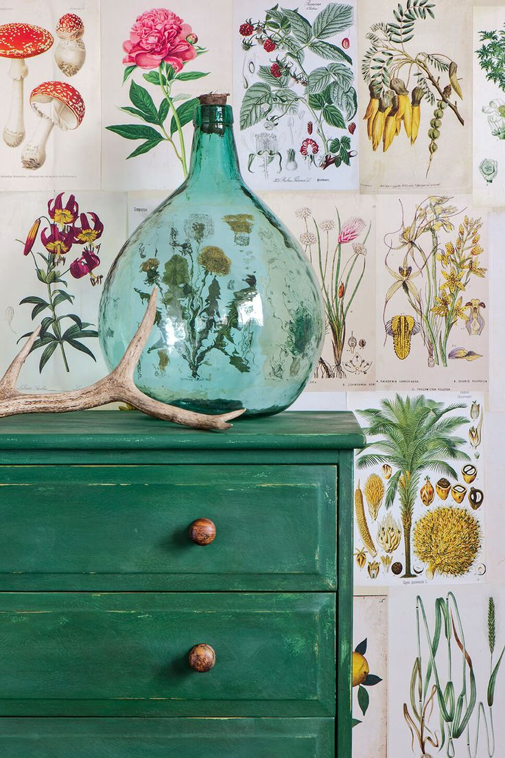 what color to paint furniture. Gorgeous NEW Chalk Paint® Color Amsterdam Green On Dresser | Annie Sloan What To Paint Furniture