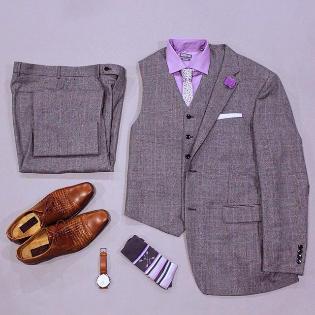 Fall weather is coming and today is the beginning of fall looks. I am looking forward to working on my layering skills.  What do you think of this combo?   Tie: @mysuitedlife   Pocket Square: @beautiesltd   Socks: @thesouthernscholar use 'Hartman' for 20% off your first month.   Suit & Vest: @jonesnewyork   Watch: @arvo   Shirt: @kennethcole   Shoes: Mercanti Fiorentini   Lapel: @suited_man #flatlay #flatlays #flatlayapp www.flat-lay.com