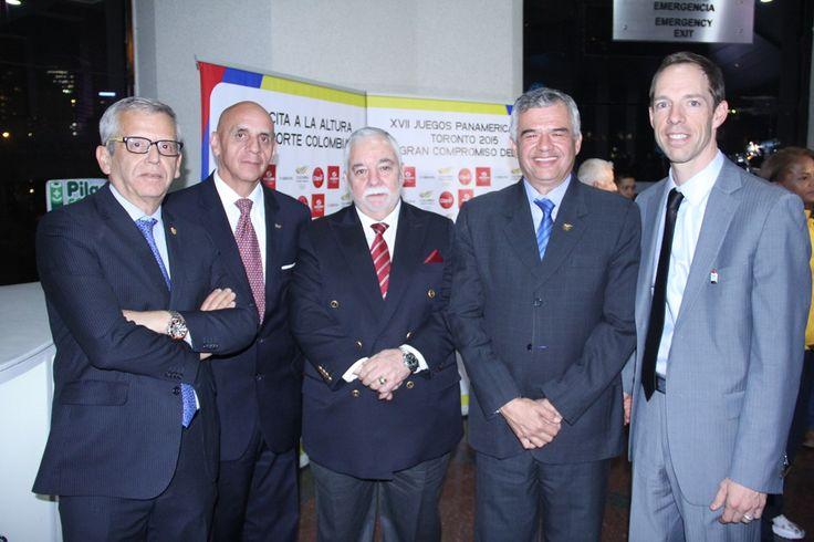 Presentación del Equipo- Helder Navarro, Luis Alfonso Sánchez, Rafael Lloreda, Ciro Solano y Cónsul de Canadá en Colombia