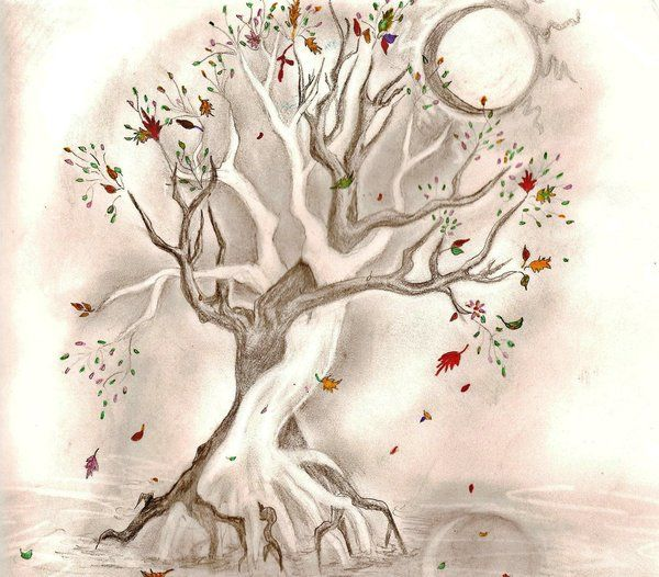 """minus all the shading, make the tree cherry blossoms, and put the words """"beauty for ashes"""" running along the side and this is my next tat."""