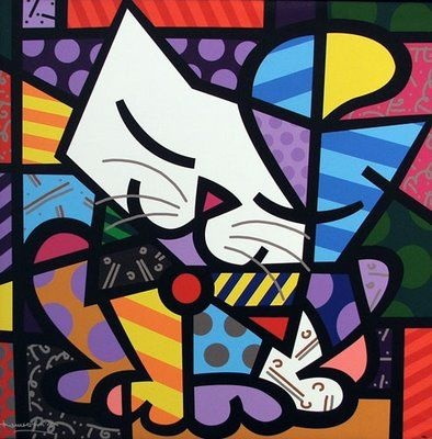 pintores brasileiros - Google Search: Cat Art, Art Boards, Art Lessons, Romero Brito, Colors Palettes, Romerobritto, Romero Britto, Quilts Art, Bright Colors