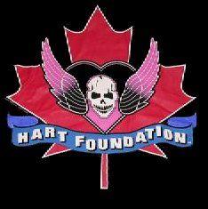 The Hart Foundation ( Bret Hart & Jim Neidhart) logo - WWE