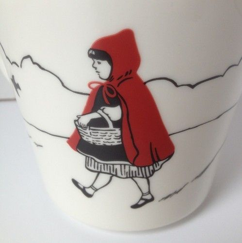 Fishs eddy wolf red riding hood mug ceramic white brothers for Fishs eddy coupon