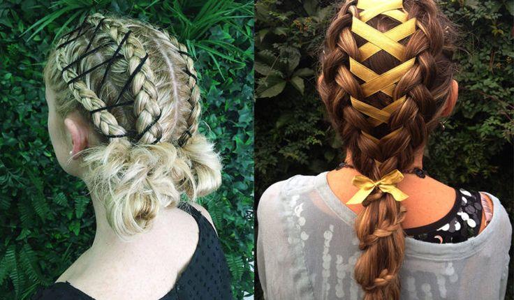 Corset-braids-womens-hairstyles-2018-cool-hair-ideas  #hair #hairstyle #style #stylish #corset #braids #cool #haircut #fashion