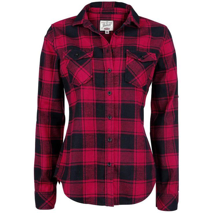 Brandit  Flanellen overhemd  »Amy Flannel Checkshirt« | Nu te koop bij Large | Meer Basics  Flanellen overhemden online beschikbaar - De beste prijs!