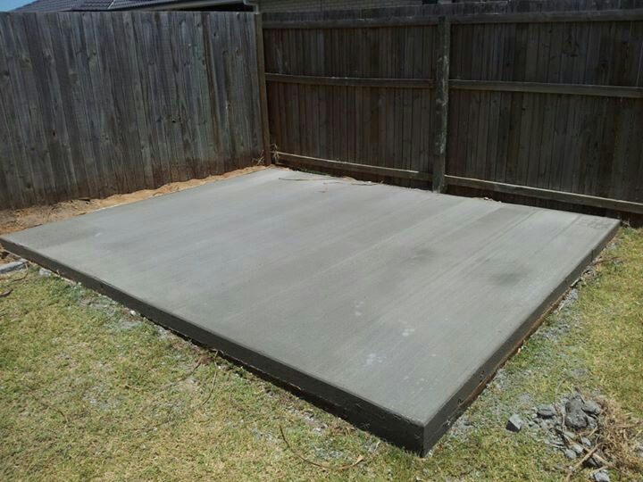 Concrete slab for our shed home sweet home pinterest for Concrete slab plans