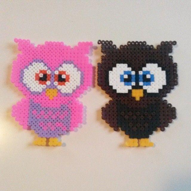 Owls hama beads by finurliga_froken