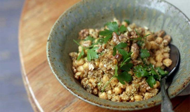 Cucina libanese: safsuf, insalata di bulgur e ceci