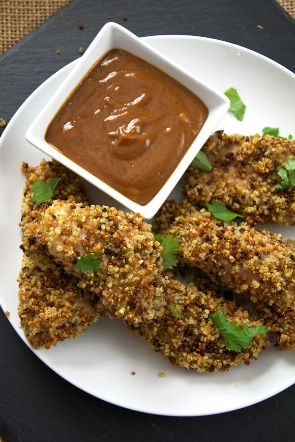 Ranch Quinoa incrostato Chicken Fingers con barbecue Senape   La Casalinga in Training Files