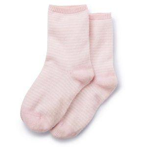 Stripe Cashmere Bed Socks - Pink Stripe | The White Company