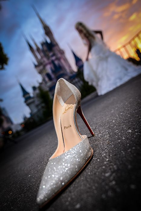 We're in love with this dazzling Cinderella inspired shoe photo at Disney's Magic Kingdom. Photo: Daniel at Disney Fine Art Photography