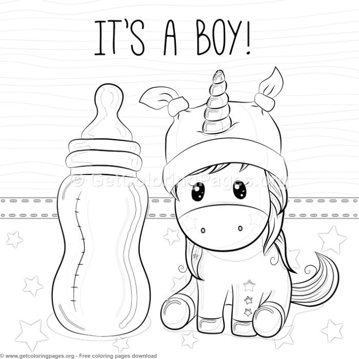 It S A Boy Unicorn Coloring Pages Free Instant Download Coloring