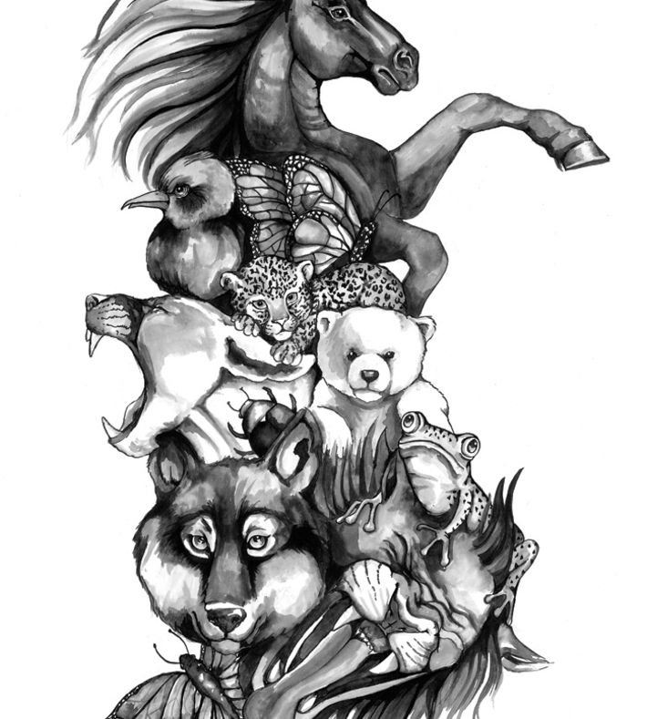 MY ANIMALS   by STINE HVID //ArtRebels Paper Cuts (ArtRebels Store)    http://artrebels.com/shop/stores/artrebels/products/5106-my-animals-stine-hvid