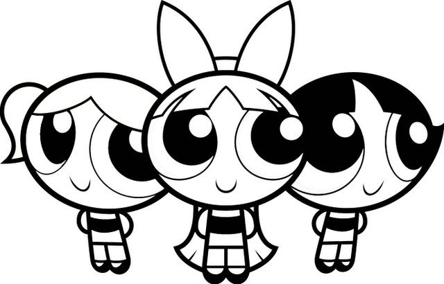 powderpuff boys coloring pages - photo #39