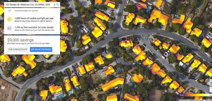 Google, Project Sunroof, Google Project Sunroof, solar, solar power, solar energy, rooftop solar, solar panels, rooftop solar panels