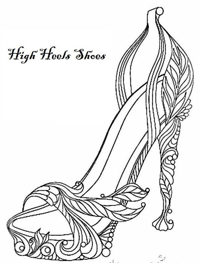 Coloring Pages Of Shoes In 2020 Coloring Pages Stress Coloring Coloring Pages For Kids