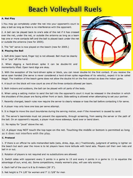 Rules Tulsa Volleyball League