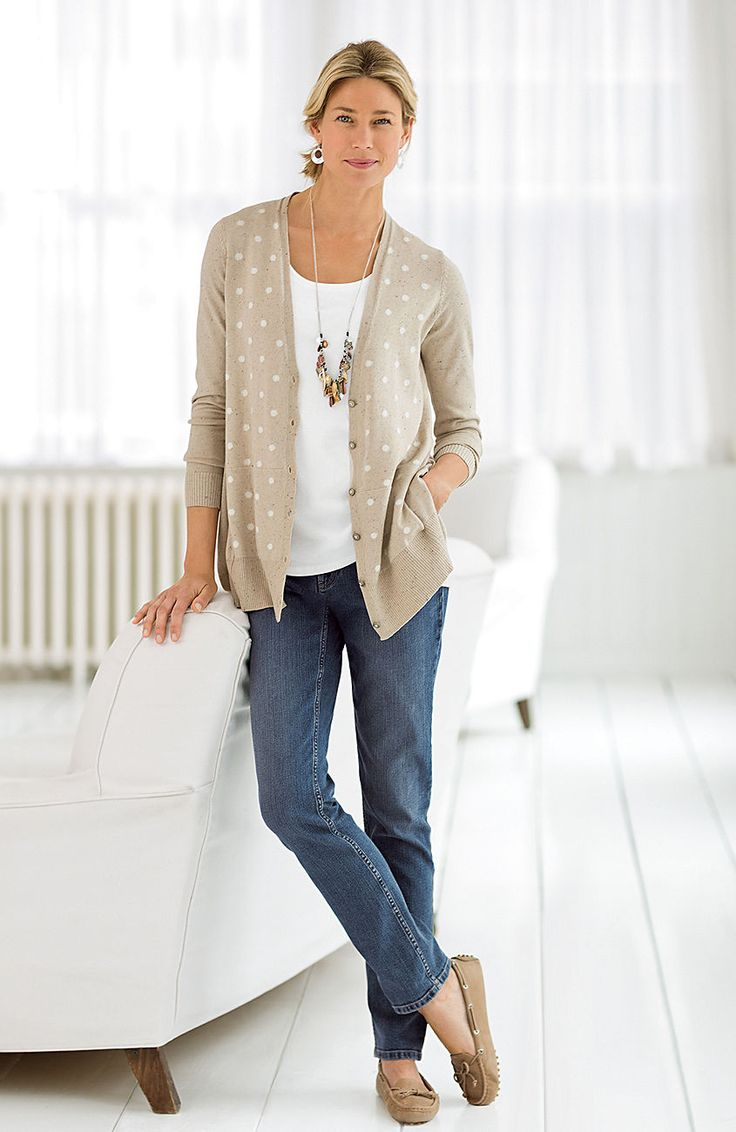 wear now, love always > dotted cardigan at J.Jill