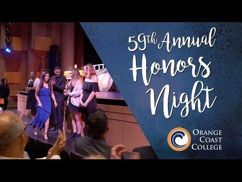 Orange Coast College Honors Night 2017 - YouTube