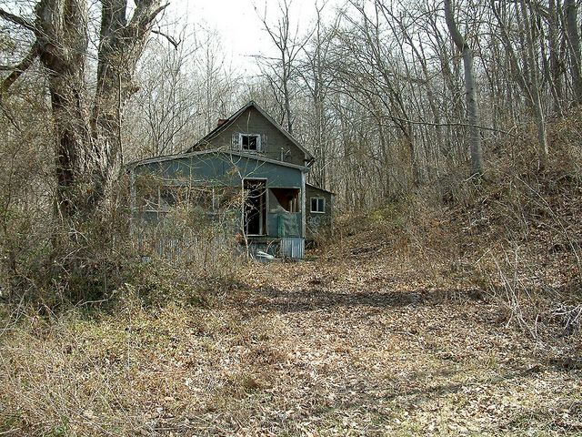 Seventysix State Forest 1:  Abandoned House by whitebuffalobk on Flickr.