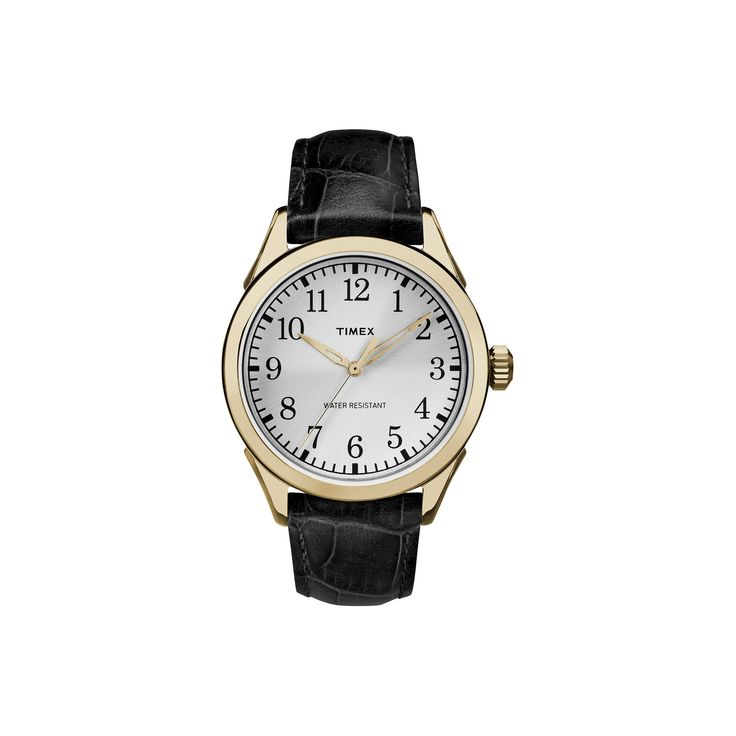 Men's Timex Watch with Leather Strap - Gold/Black TW2P99600JT