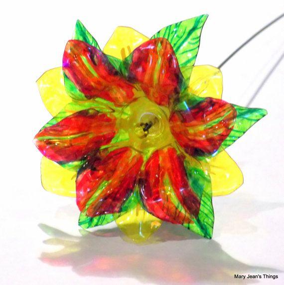 Water Bottle Flowers: 54 Best Images About Plastic Bottle Flowers On Pinterest