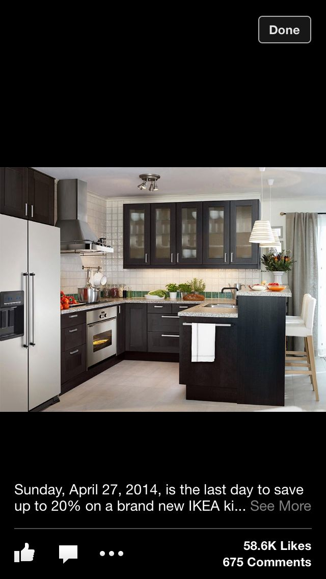 ikea kitchen  charcoal grey cabinets  Kitchen  Pinterest