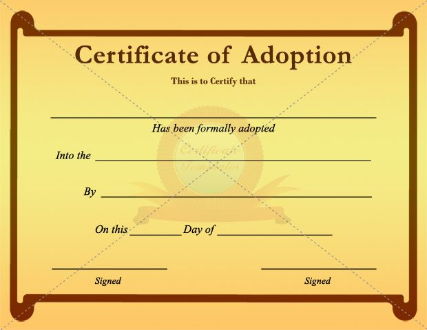 20 best adoption certificate templates images on pinterest for Adoption certificate template