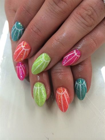 127 best images about geometric nail art on pinterest