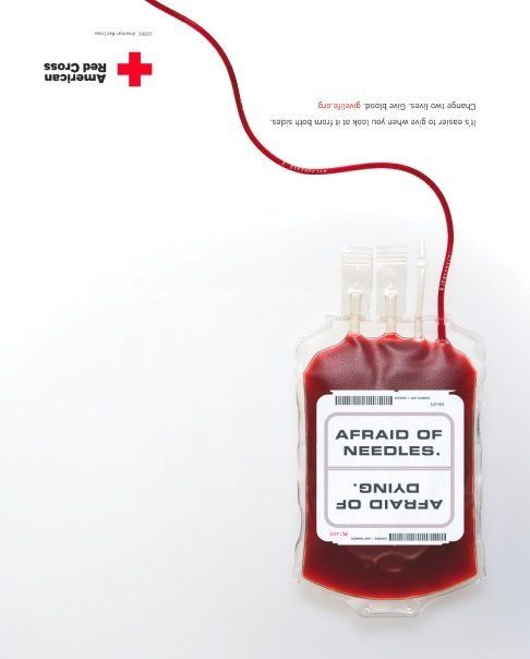 Print: American Red Cross, Blood Donor Services by Justin Dobbs, via Behance