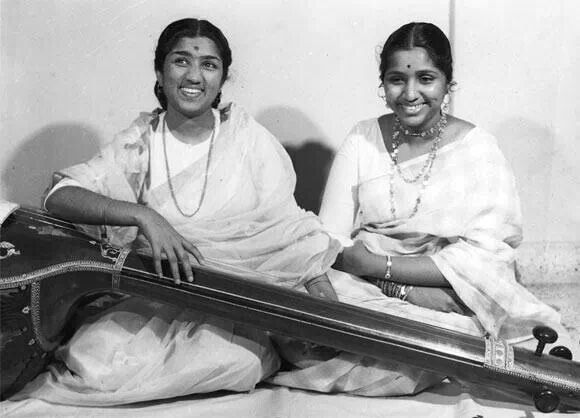 Great Legends Lata Mangeshkar  and Asha Bhosale