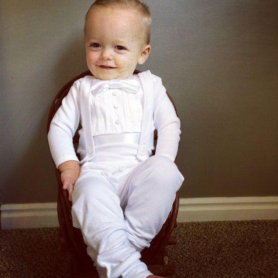 petit garçon bénédiction/baptême tenue Body bébé par BebeCoutureLLC