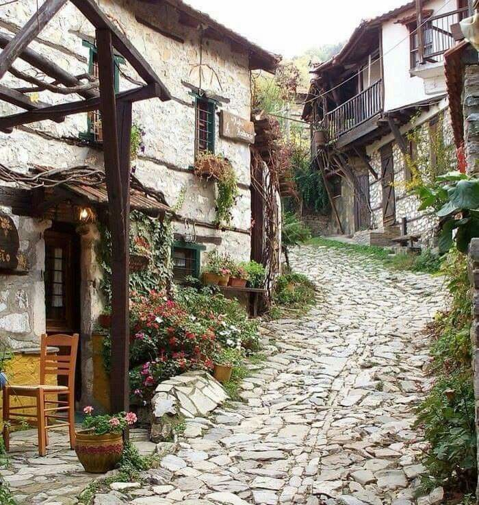 Mountain village north of Nafpaktos, Aitoloakarnania, Greece