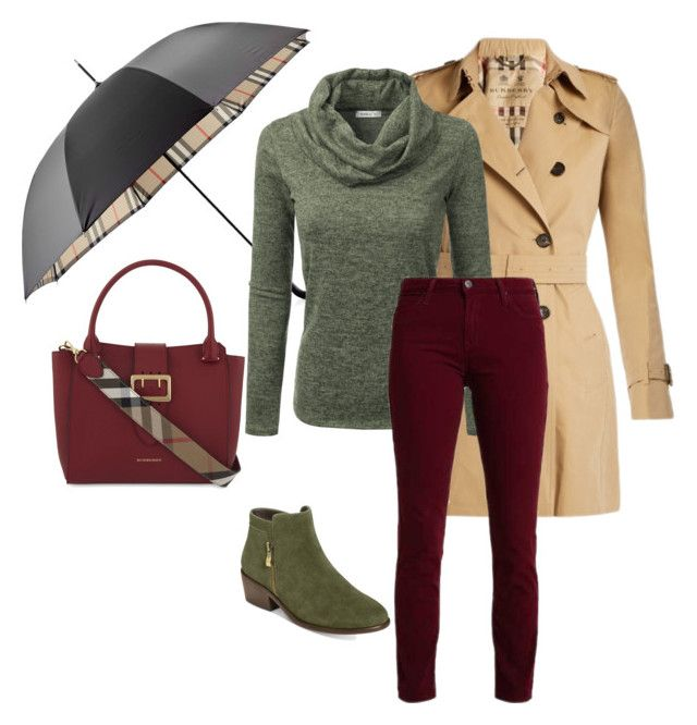 """Untitled# 150"" by bidlekerika on Polyvore featuring Burberry, Doublju and Aerosoles"