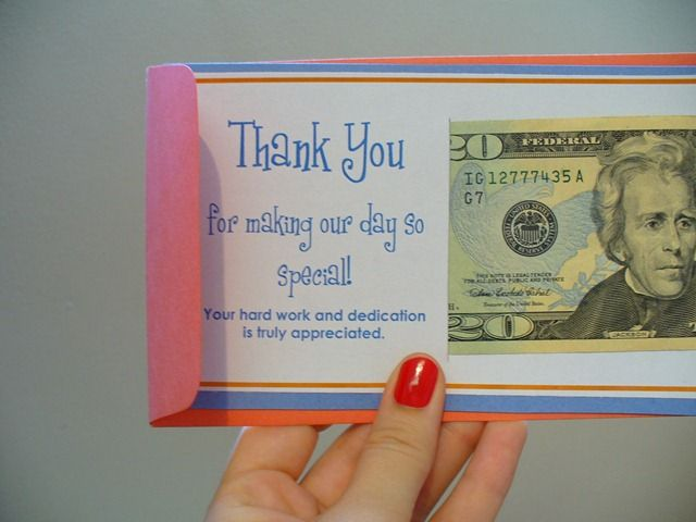 A cute way to distribute tips at the end of the night to your wedding vendors.