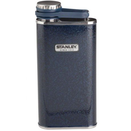 Store your spirits in style, with the Stanley Pocket Flask. With its trademark Hammertone green and the new Navy finish, and lifetime-guaranteed, 100% odourless stainless steel construction, it's the perfect gift for the man in your life.
