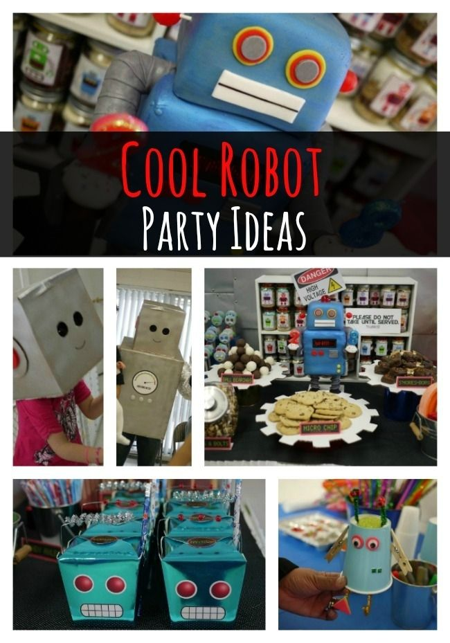 Cool Robot Themed Birthday Party - www.spaceshipsandlaserbeams.com