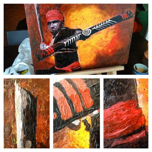 Painting Maluku by Joop Abraham