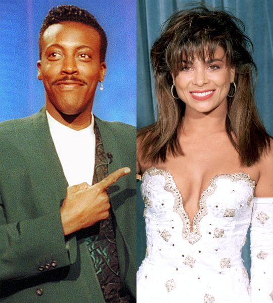 """Arsenio Hall and Paula Abdul: At the height of their respective careers (the late '80s), Arsenio and Paula were a hot item. In fact, Arsenio even appeared in the singer's """"Straight Up"""" music video. Arsenio has very fond memories of the time, saying that he was """"madly in love"""" with her."""""""