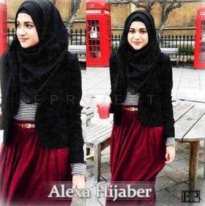 Baju gamis terbaru untuk anak muda alexa hijaber