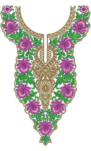 10259 Neck Embroidery Design
