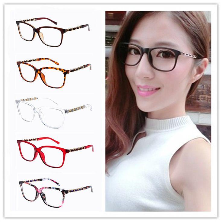 Chain Glasses Frames Women Stylish Square Frames Spectacles Lady Elegant oculos de grau femininos