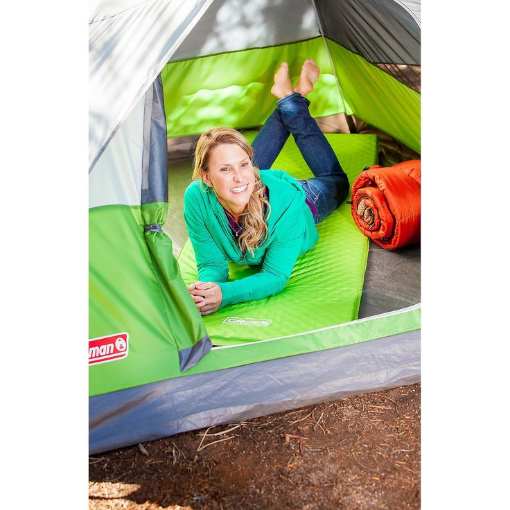 <p>Give yourself extra padding and comfort on your next camping trip with this weather-resistant sleeping mat from Coleman. The nylon mat inflates on its own, so you don't need to worry about an air pump weighing you down on your next overnight hike.</p><p></p><p>IMPORTANT: It is normal for air beds to stretch and decrease in air pressure during the first several uses (your air be...