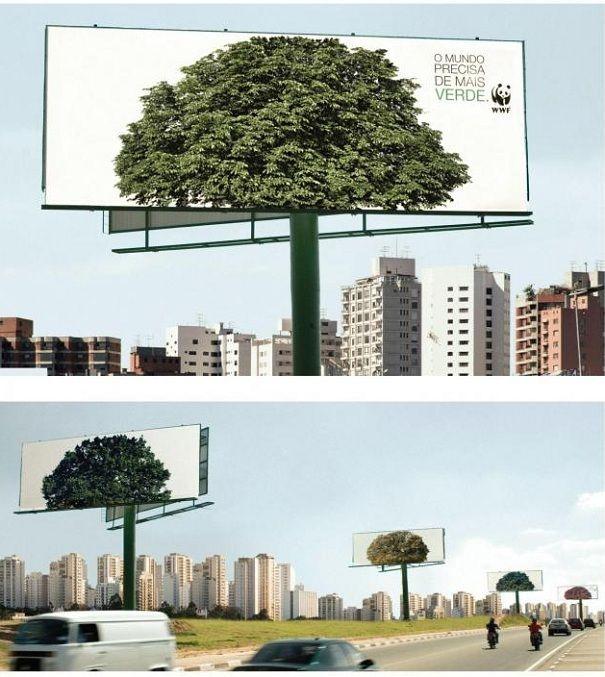 """El lema de la campaña """"El mundo necesita más verde""""::..*•#~~$??*"""