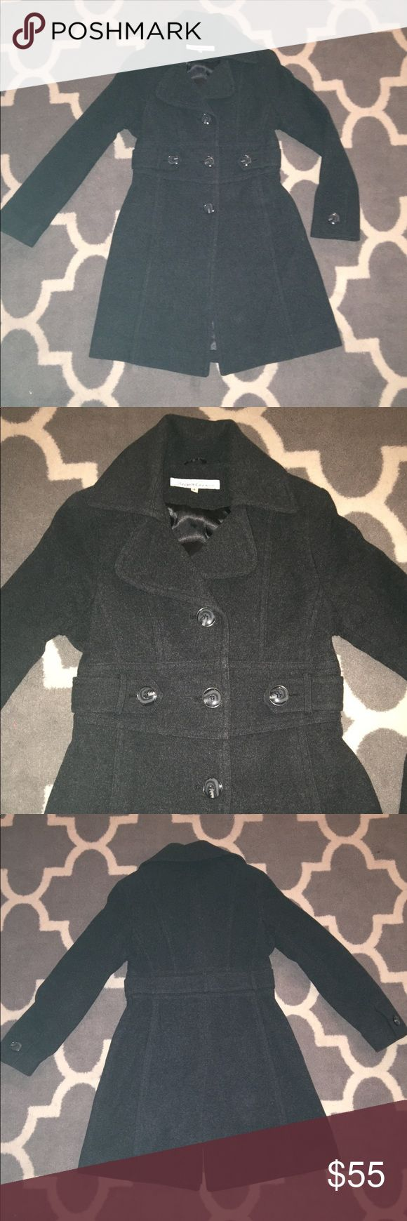 Women's peacoat Women's Kenneth Cole, peacoat. Size 8. Dark grey. Excellent condition ! Kenneth Cole Jackets & Coats Pea Coats
