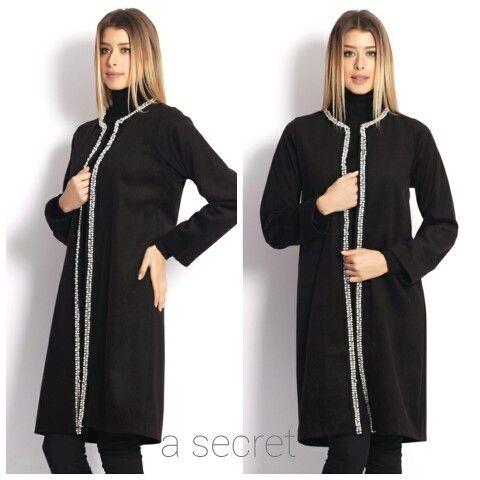 İnci detaylı paltomuz için www.asecret.com.tr