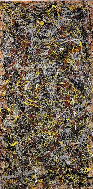 ELEMENT LINE Title: No. 5 Artist: Jackson Pollock, 1948 Art Movement: Abstract Expressionism | Painting | Pinterest