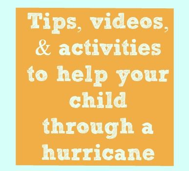 Sesame Street HurricaneKit - Tips, Videos, & activities to help your child through a hurricane.  #Sandy