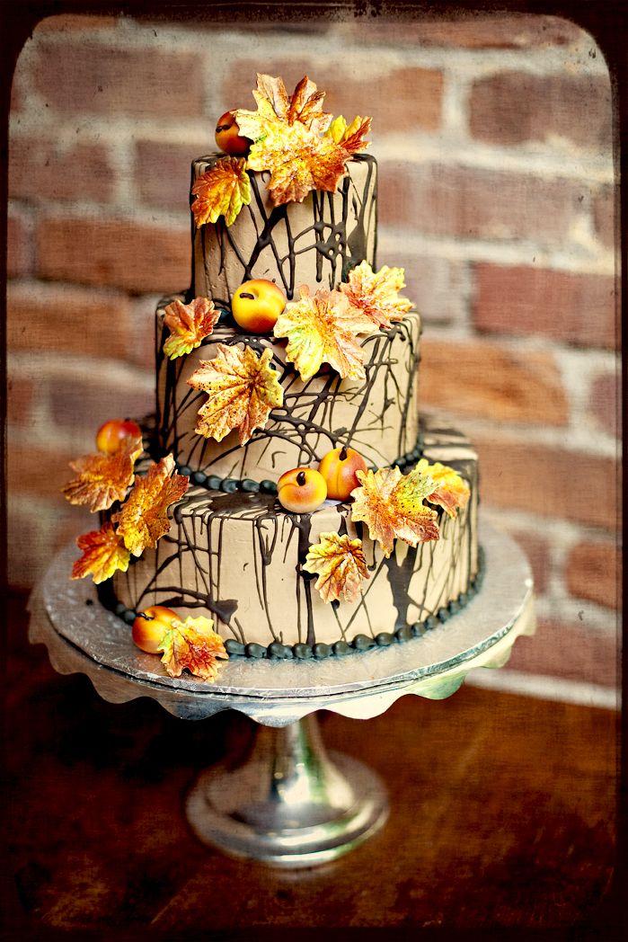 Beautiful fall cake | The BonBonerie Gallery - mywedding.com